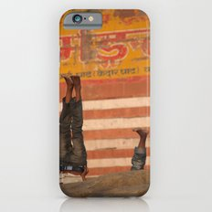 Doing Yoga on the Ghats iPhone 6s Slim Case