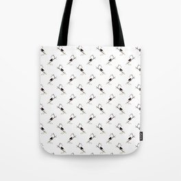 Blackbird Pattern in Black And White Tote Bag