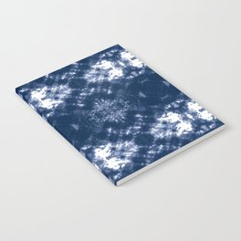 Shibori Tie Dye 1 Indigo Blue Notebook