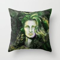 ruben ireland Throw Pillows featuring Ireland by Holly Carton