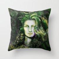 ireland Throw Pillows featuring Ireland by Holly Carton