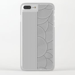 Two Lines Clear iPhone Case