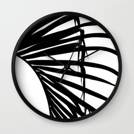 Palm Leaf Silhouette Wall Clock