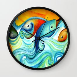 In the wave Wall Clock
