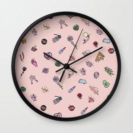 cute icons Wall Clock