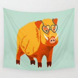Benevolent Boar Wall Tapestry