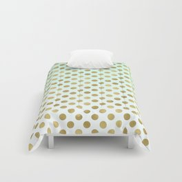 Mint Ombre Gold Dots Comforters