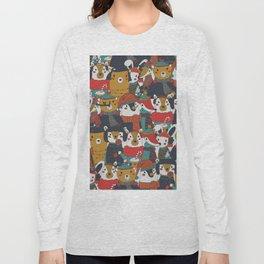 Funky Retro Christmas Animals Long Sleeve T-shirt