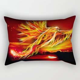 Phoenix Bird Fire Rectangular Pillow
