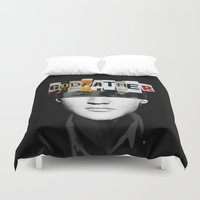 the godfather Duvet Covers featuring Godfather Mix 2 black by Marko Köppe