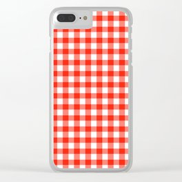 Red Gingham - Vichy Karo groß Farbe Rot-Weiss Clear iPhone Case
