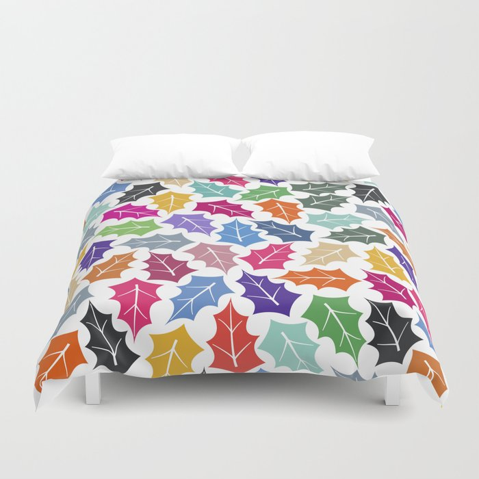 Colorful leaves II Duvet Cover