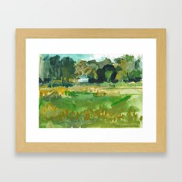 Farmers Field on Anthony Road, Lebanon Township, NJ Framed Art Print