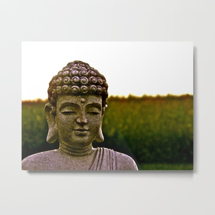 A Peaceful Mind, Makes a Happy Heart Metal Print