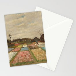 Classic Art - Flower Beds in Holland - Vincent van Gogh Stationery Cards