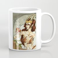 capricorn Mugs featuring Capricorn by TammyWitzens