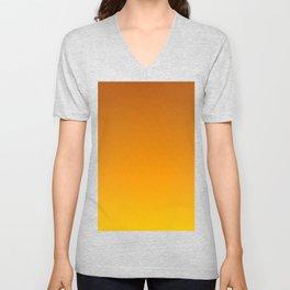 Honey Brown Orange Yellow Ombre Flames Unisex V-Neck