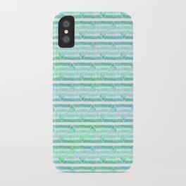 chevron blue&green iPhone Case