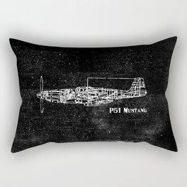 North American P51 Mustang (Dark) Rectangular Pillow