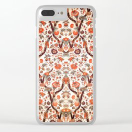 Floral Fabric Vintage Gift Pattern #7 Clear iPhone Case
