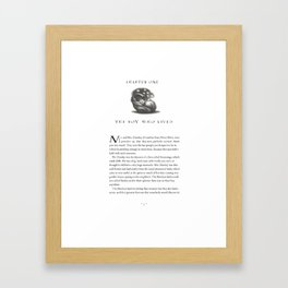 Sorcerer's Stone Chapter One Page One Framed Art Print