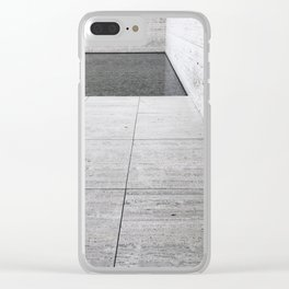 Marble + Pool Clear iPhone Case