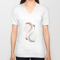 infinity V-neck T-shirts featuring Infinity by Sedef Uzer