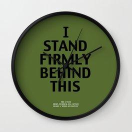 Howlin' Mad Murdock's 'I Stand Firmly...' shirt Wall Clock