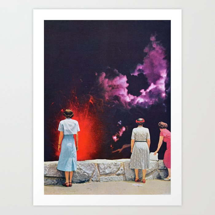 Discover the motif VOLCANO AT NIGHT by Beth Hoeckel as a print at TOPPOSTER