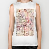 atlanta Biker Tanks featuring Atlanta by MapMapMaps.Watercolors