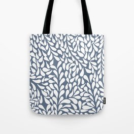 Elegant Abstract Grey Drops Pattern Tote Bag