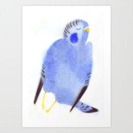 """Un oiseau entend..."" Book cover Art Print"