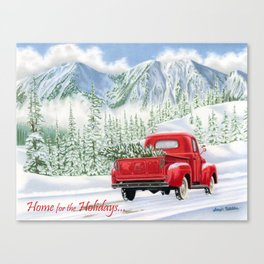 The Road Home- Home for the Holidays Canvas Print