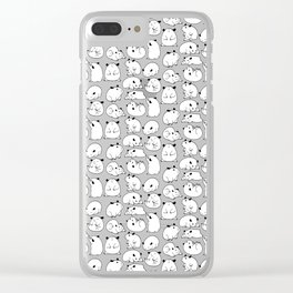 Hamster Blobs Clear iPhone Case