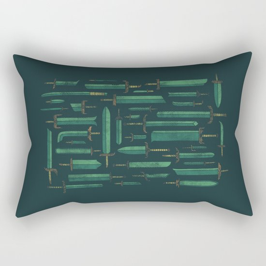 Bunch of Blades Rectangular Pillow