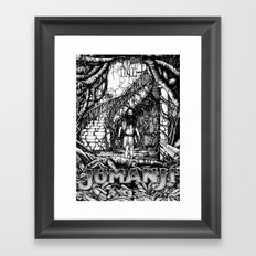 Jumanji (Black and White version) Framed Art Print
