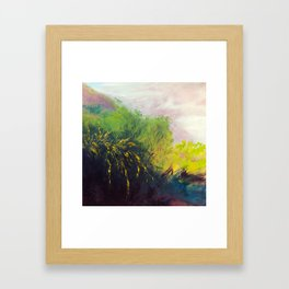Au détour du chemin Framed Art Print