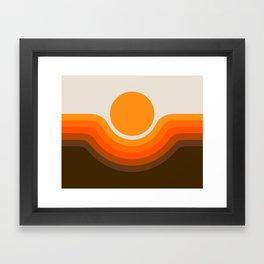 Golden Canyon Framed Art Print