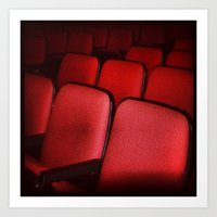 theatre Art Prints featuring Theatre Seats by Amber Dawn Hilton