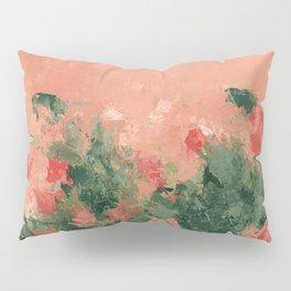Orange pink floral Pillow Sham
