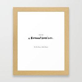 The Kite Runner Framed Art Print
