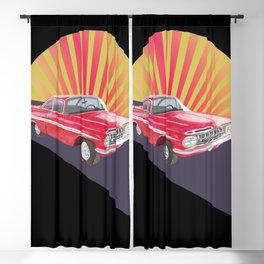 Vintage red car Blackout Curtain