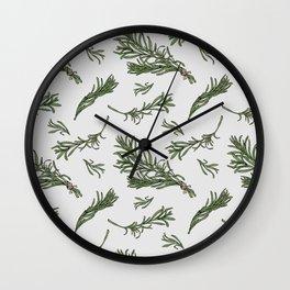 Rosemary rustic pattern Wall Clock