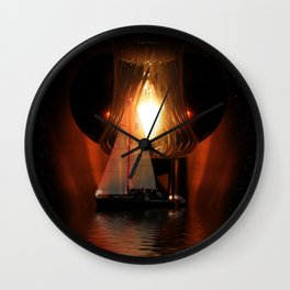 Sailing Under the Stars Wall Clock