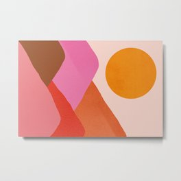 Abstraction_Mountains_SUNSET_Minimalism_008 Metal Print