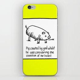 PIG BULLET iPhone Skin