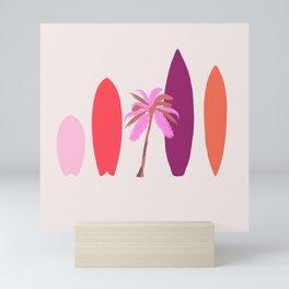 tropical surf Mini Art Print