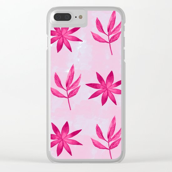 Colorful Leaves X Clear iPhone Case