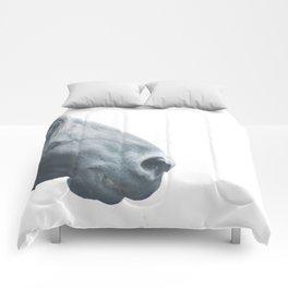 Horse head - fine art print n° 2, nature love, animal lovers, wall decoration, interior design, home Comforters