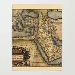 Map Of The Middle East 1600 Poster